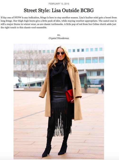 Lisa Cahue NYFW Street Style Nordstrom