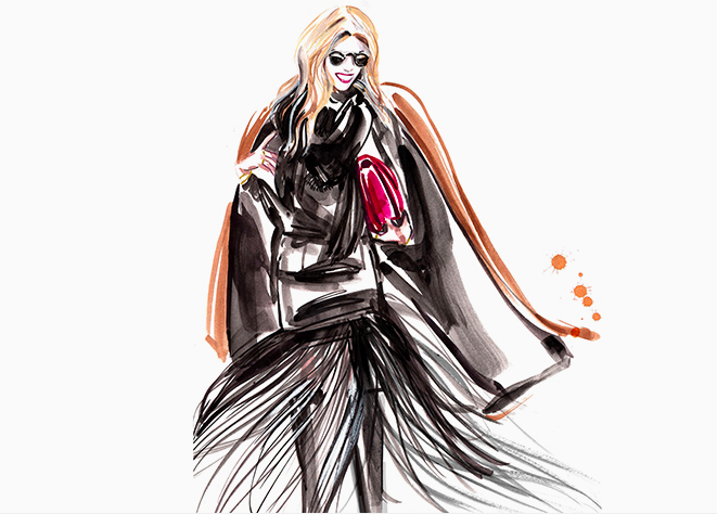 Lucky shops sketch, NYFW, lisa cahue