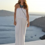Greek Goddess Maxi in Santorini, Greece