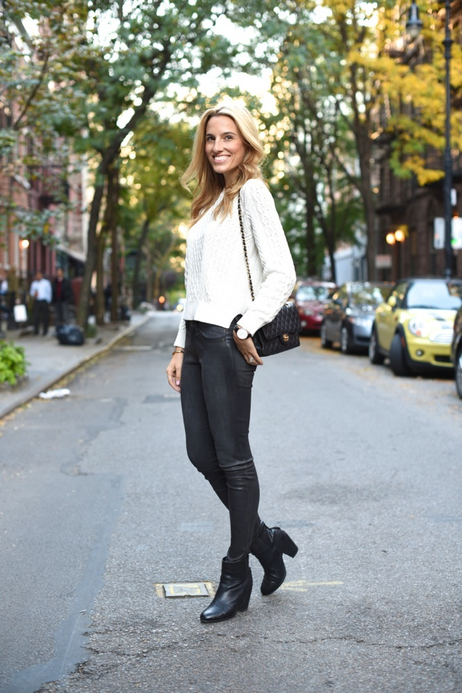 fall fashion, leather pants, shades of grey, fall style