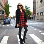 Buffalo Plaid and Leather Leggings