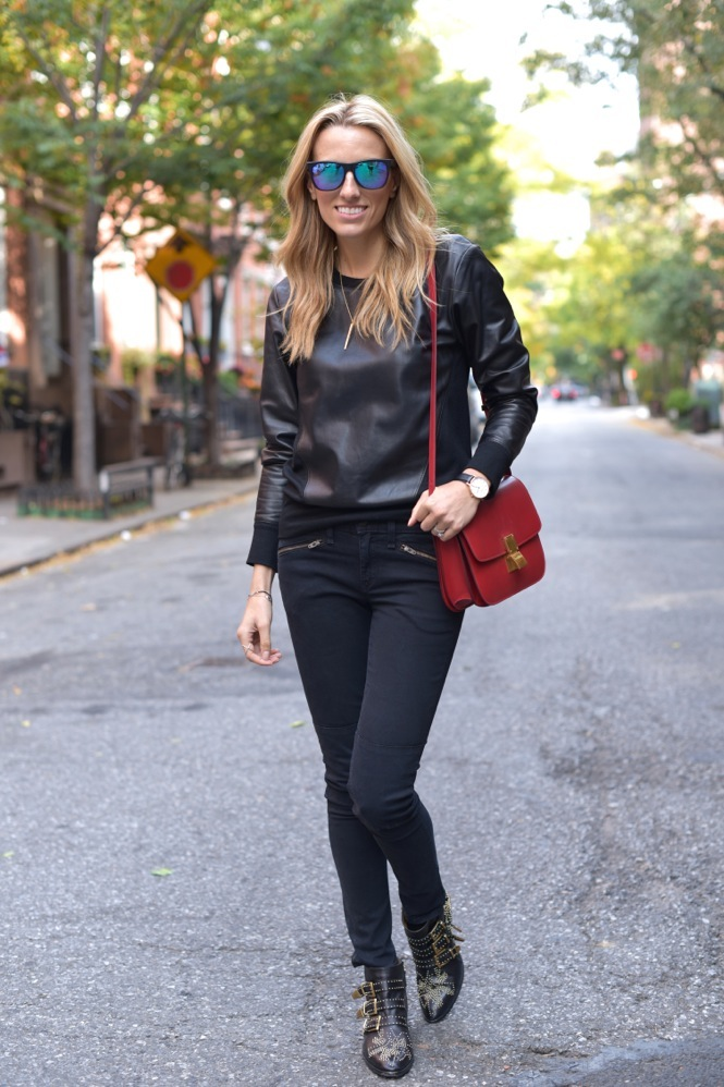 Leather sweatshirt-Lisa  - 3