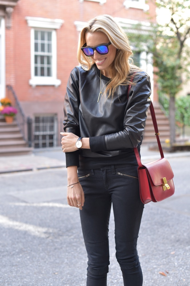 Leather sweatshirt-Lisa  - 7