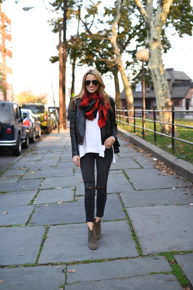 fall fashion, leather jacket, isabel marant boots, chanel bag, j brand photo ready jeans