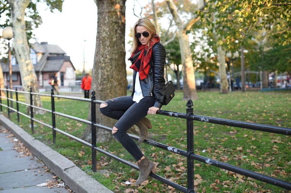 fall fashion, chanel bag, isabel marant boots, j brand photo ready jeans, leather jacket
