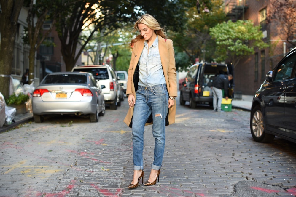 peace on earth, new york holiday, this holiday, saint laurent leopard pumps, Current Elliott jeans, j.Crew denim shirt