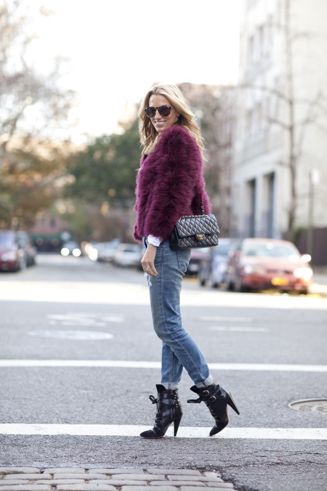Faux Fur burgundy  - 03