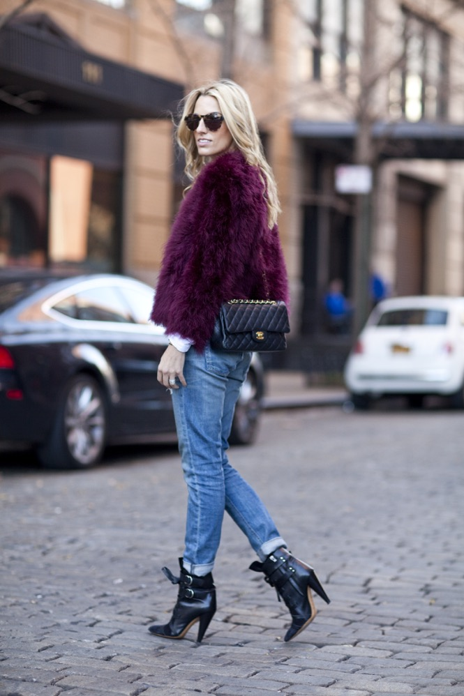 Faux Fur burgundy  - 04