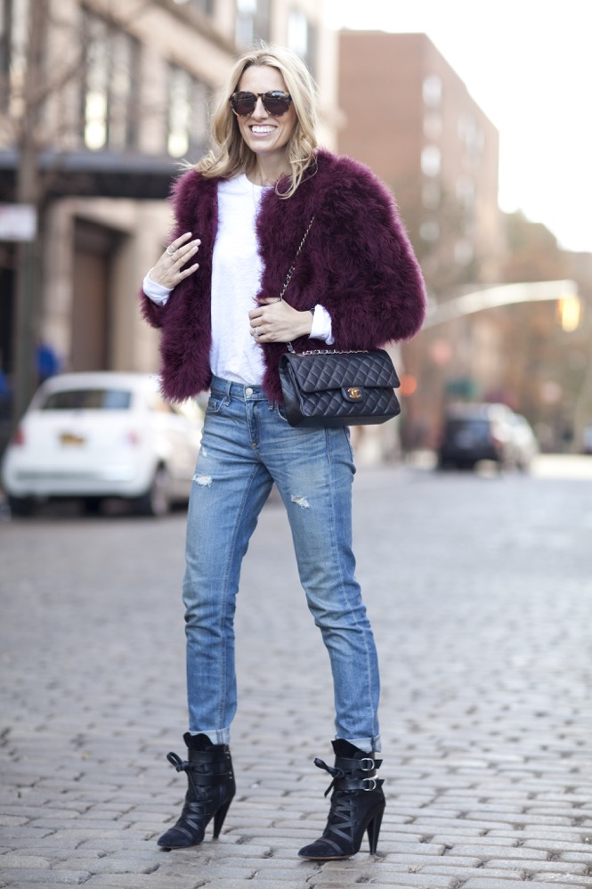 Faux Fur burgundy  - 06