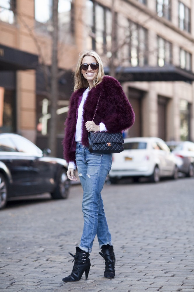 Faux Fur burgundy  - 08