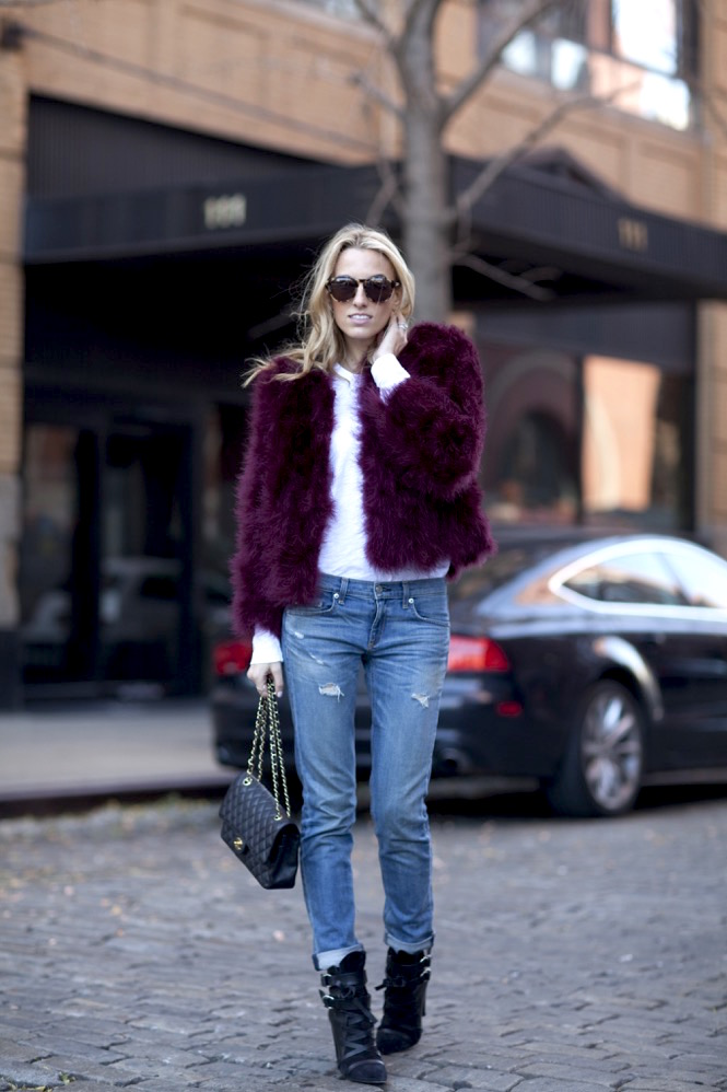 Faux Fur burgundy  - 12