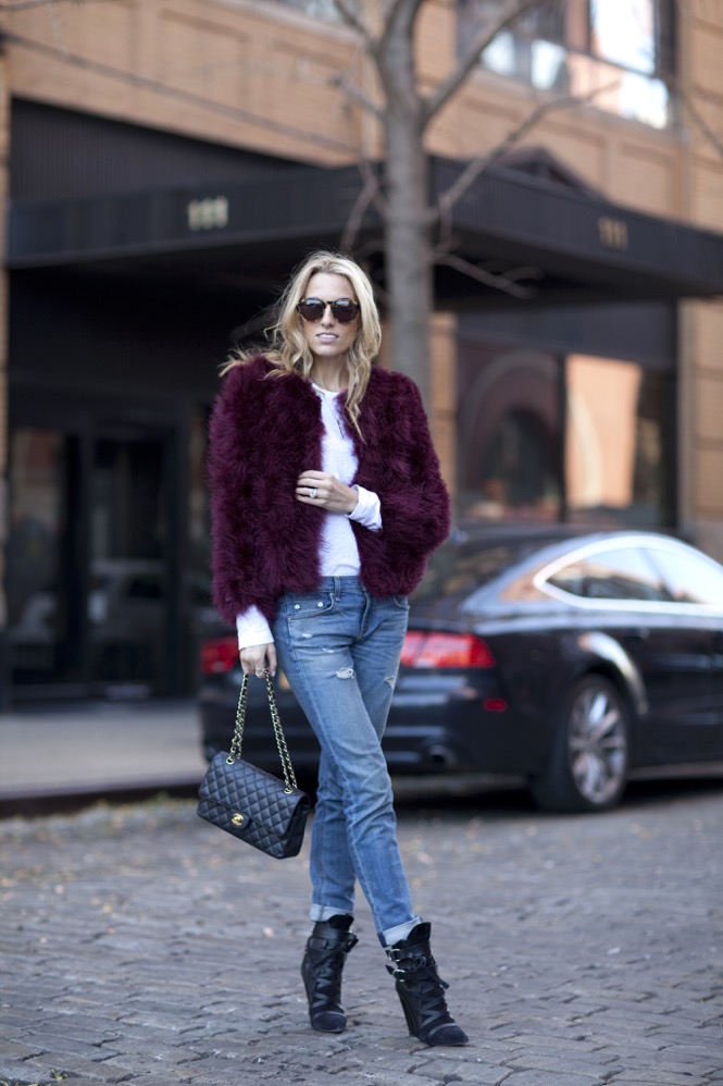 Faux Fur burgundy  - 13