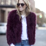 Faux Fur Burgundy Jacket