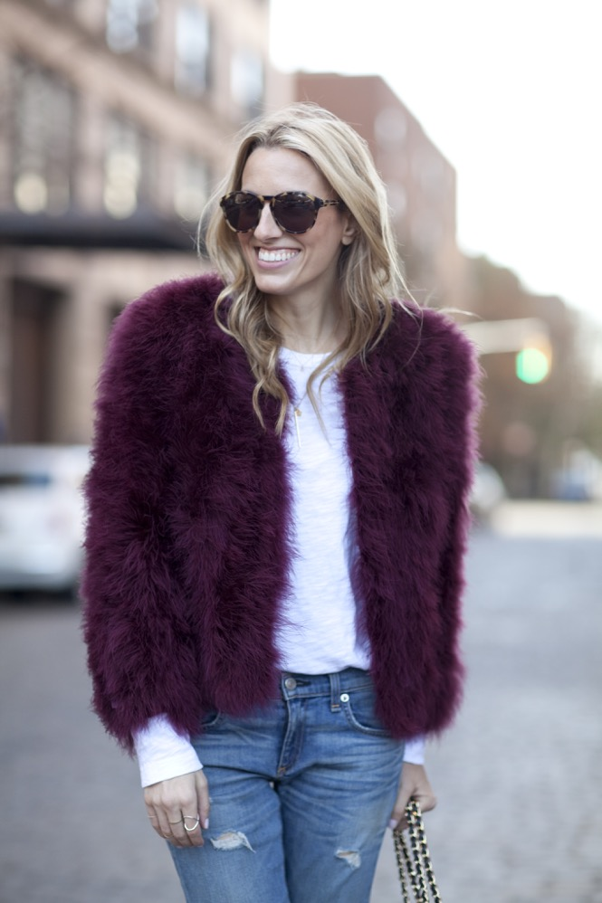 Faux Fur burgundy  - 14