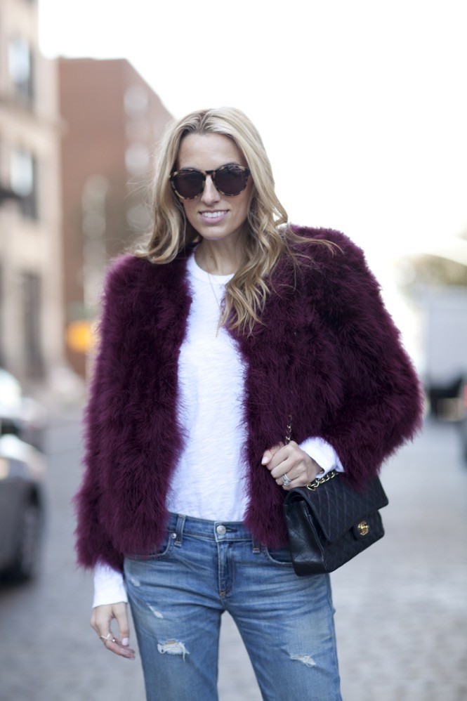 Faux Fur burgundy  - 15