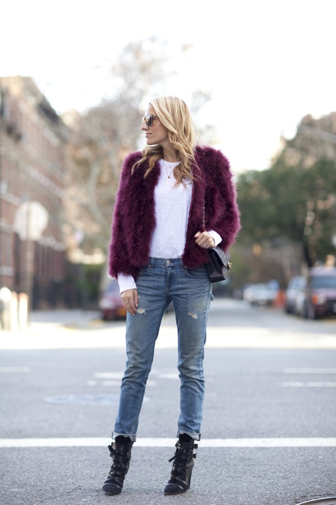 Faux Fur burgundy  - 16