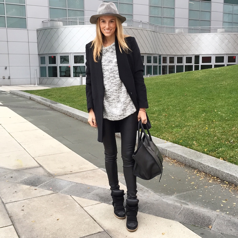 Helmut Lang Sweater and Leather Pants