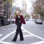 Holidays in NYC – Jumpsuit and Faux Fur