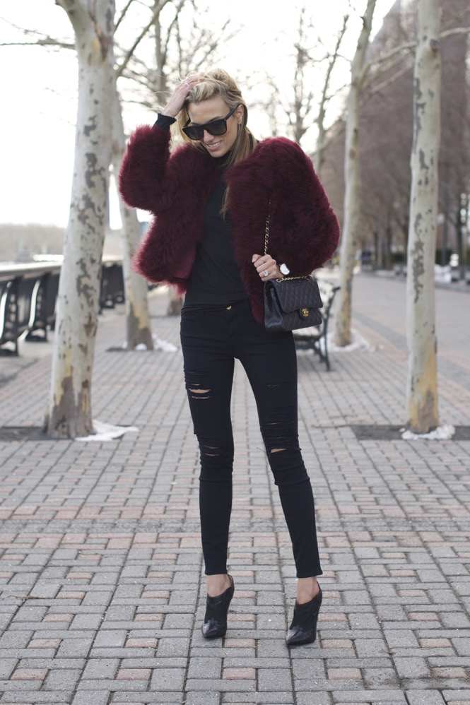 All Black Everything with a POC faux fur