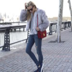 Faux Fur and Sneaker Swag