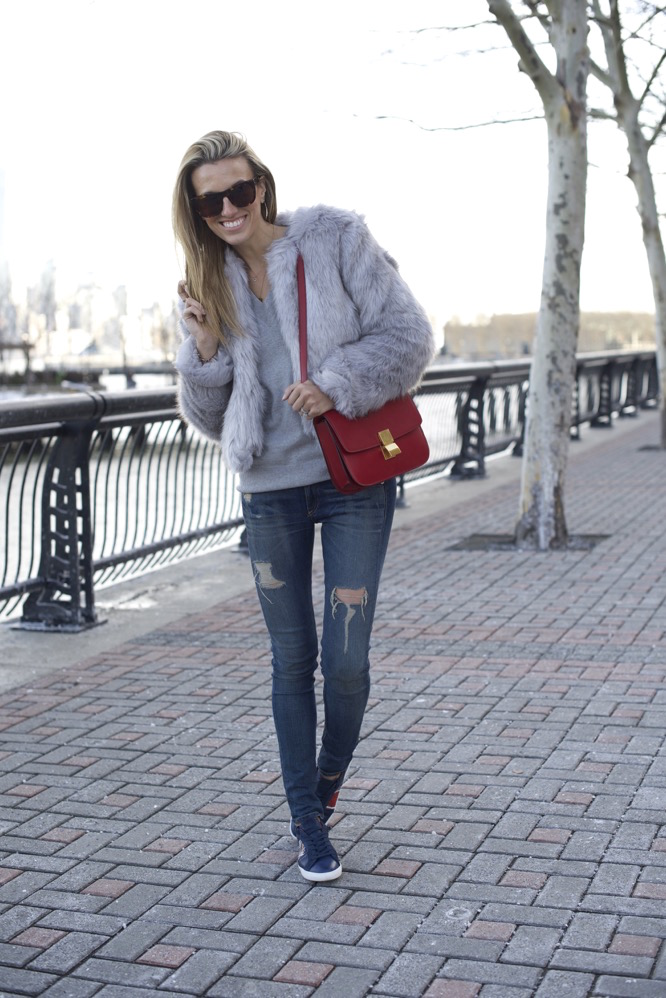 Howsty Sneakers and Faux Fur swag