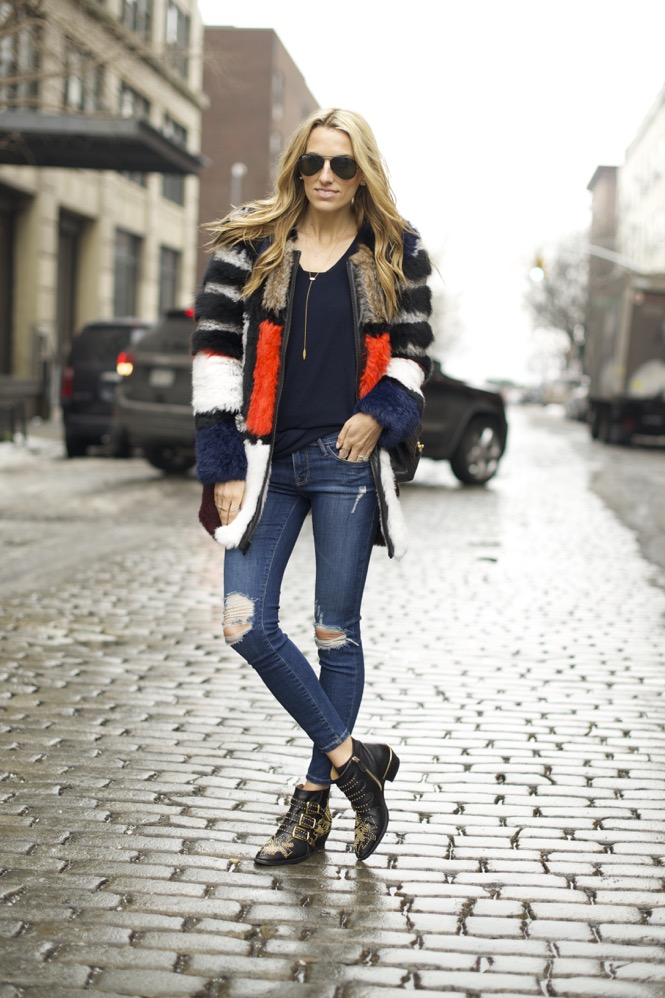 Elizabeth and James Tarra Jacket, Chloe Suzanna Boots, Frame Denim - 01
