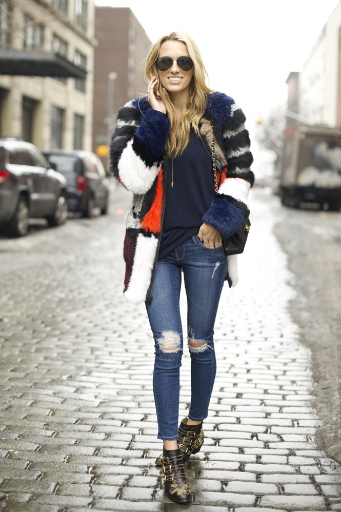 Elizabeth and James Tarra Jacket, Chloe Suzanna Boots, Frame Denim - 04