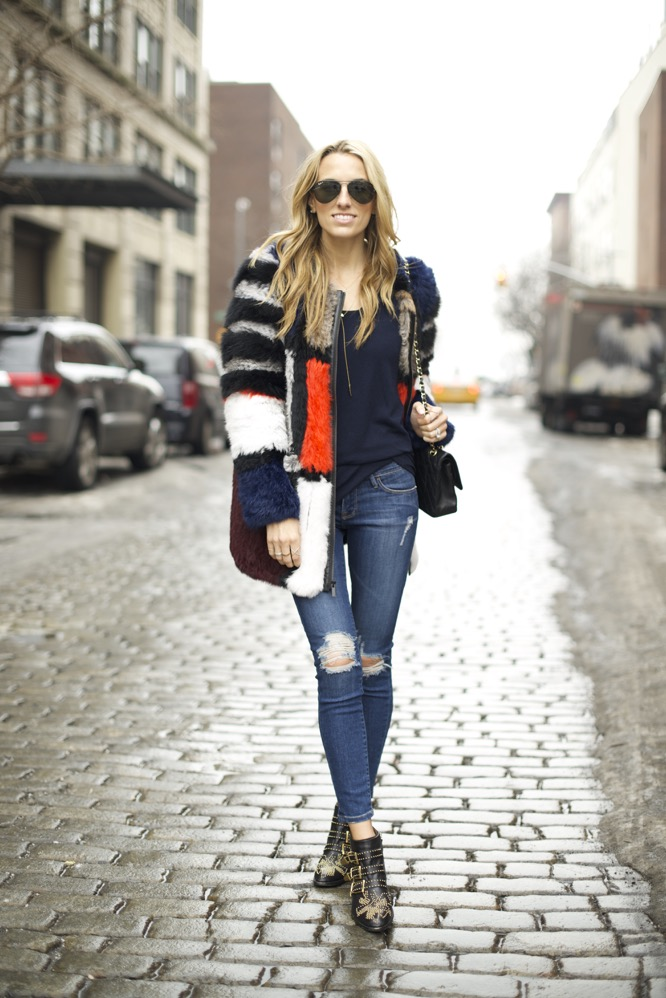 Elizabeth and James Tarra Jacket, Chloe Suzanna Boots, Frame Denim - 05