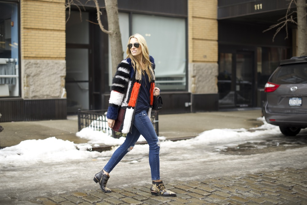 Elizabeth and James Tarra Jacket, Chloe Suzanna Boots, Frame Denim - 10
