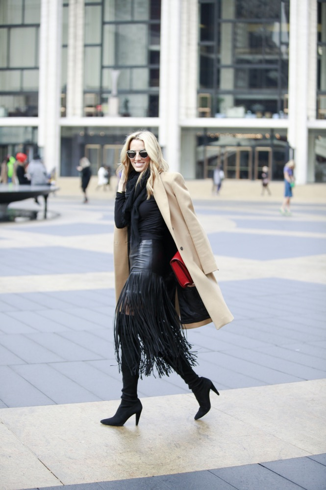 NYFW Day 1, Fringe Skirt, Over the knee boots - 02