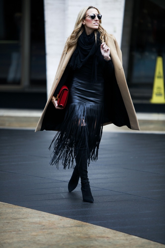 NYFW Day 1, Fringe Skirt, Over the knee boots - 03
