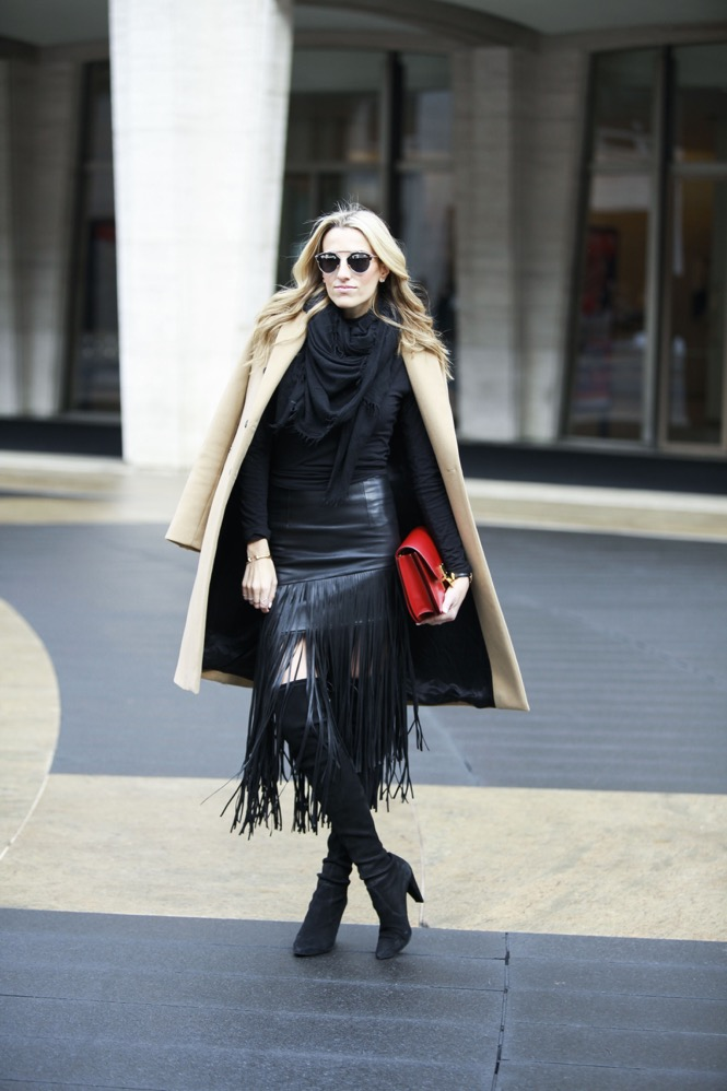 NYFW Day 1, Fringe Skirt, Over the knee boots - 06