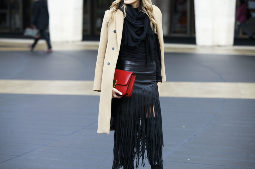 NYFW Day 1, Fringe Skirt, Over the knee boots - 07