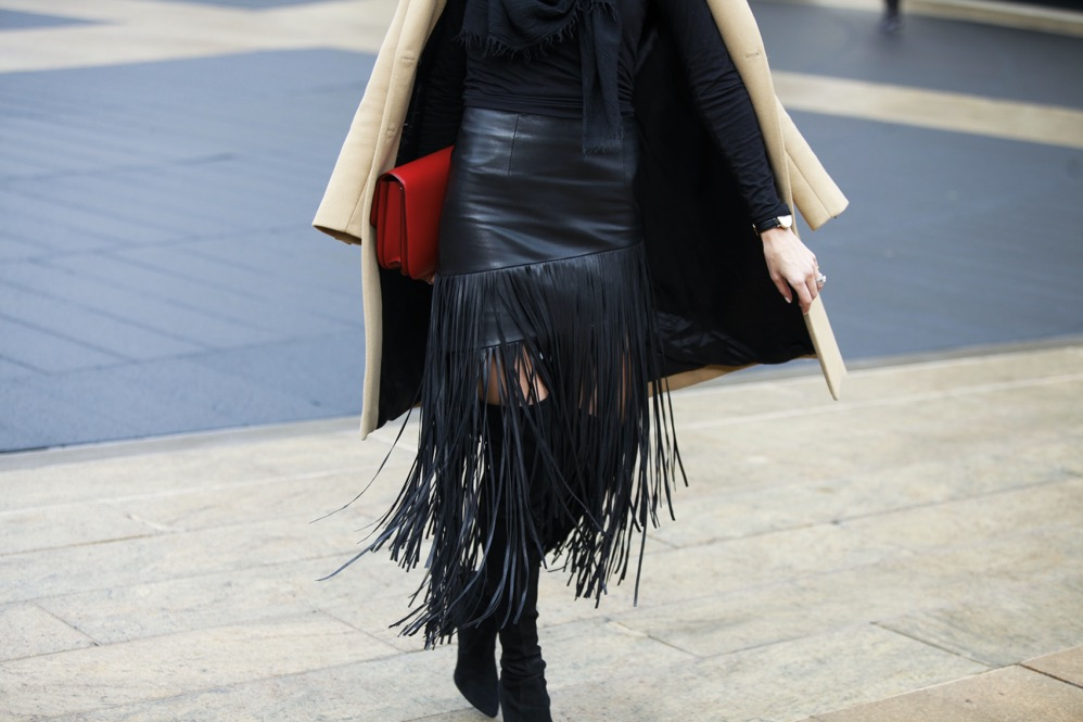 NYFW Day 1, Fringe Skirt, Over the knee boots - 09