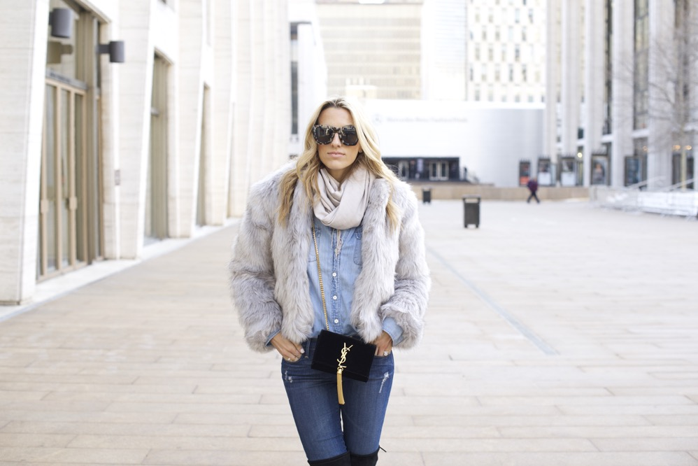 NYFW Day 7- Faux Fur, Denim on Denim - 01