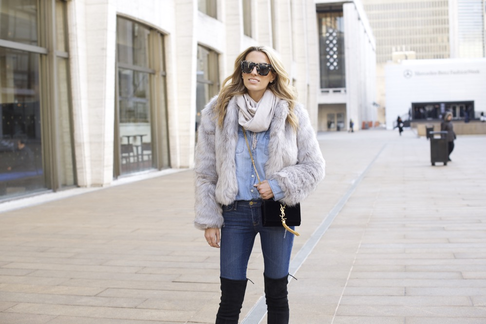 NYFW Day 7- Faux Fur, Denim on Denim - 09