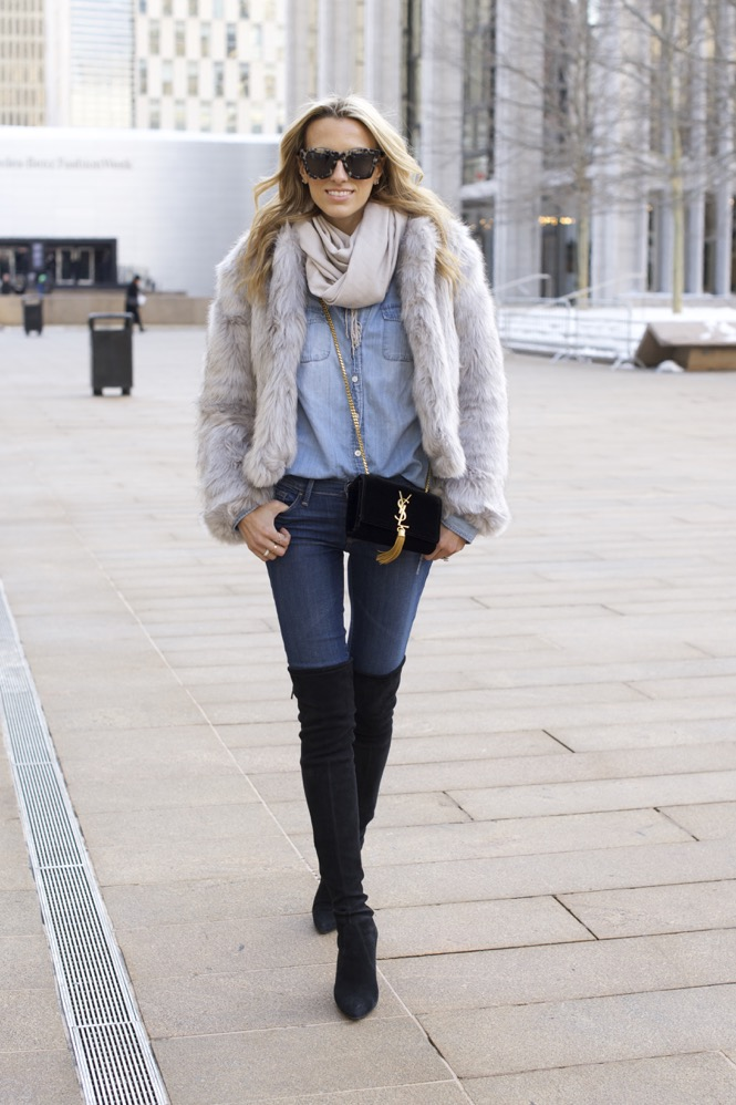 NYFW Day 7- Faux Fur, Denim on Denim - 11