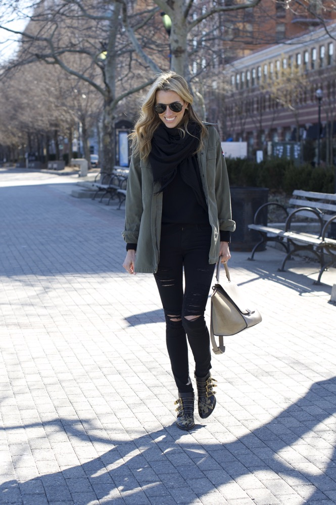 Celine Trapeze, Chloe Boots, Army Jacket 9