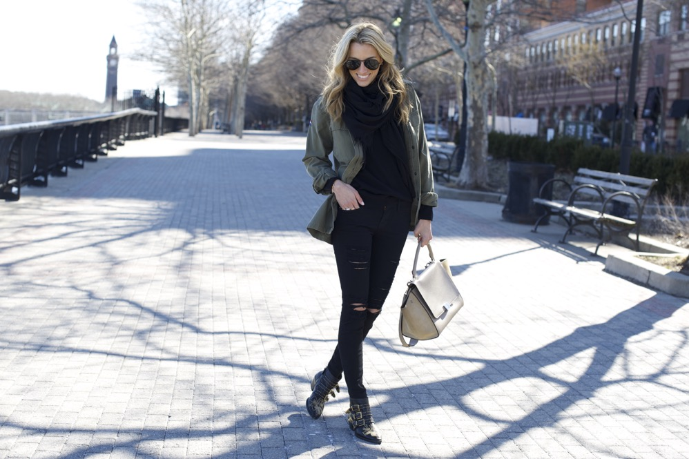 Celine Trapeze, Chloe Boots, Army Jacket 2