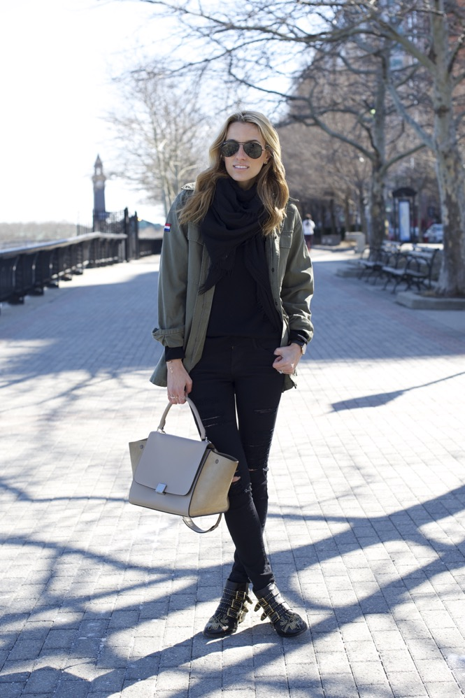 Celine Trapeze, Chloe Boots, Army Jacket 6