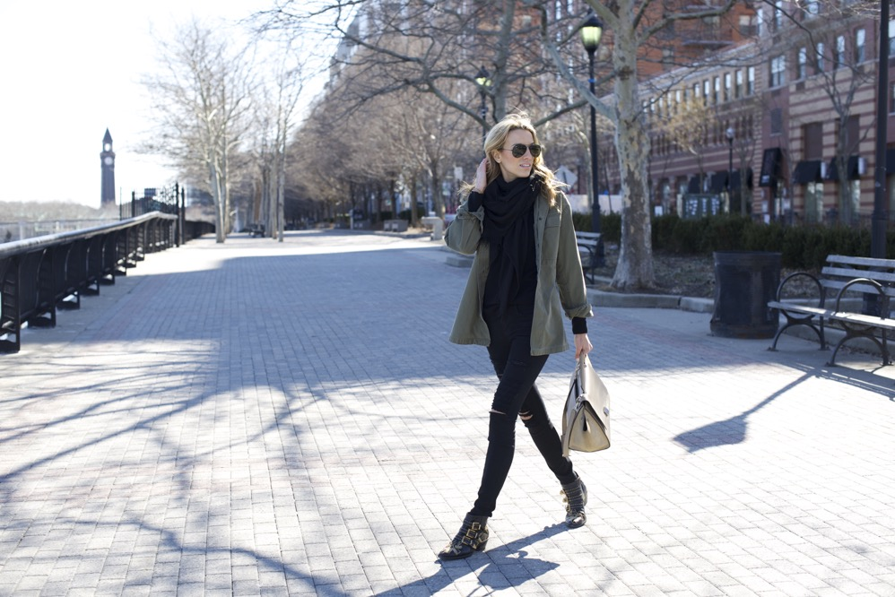 Celine Trapeze, Chloe Boots, Army Jacket 7