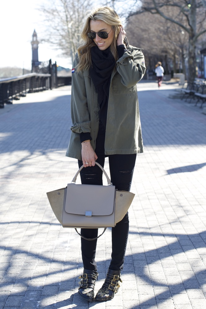 Celine Trapeze, Chloe Boots, Army Jacket 3