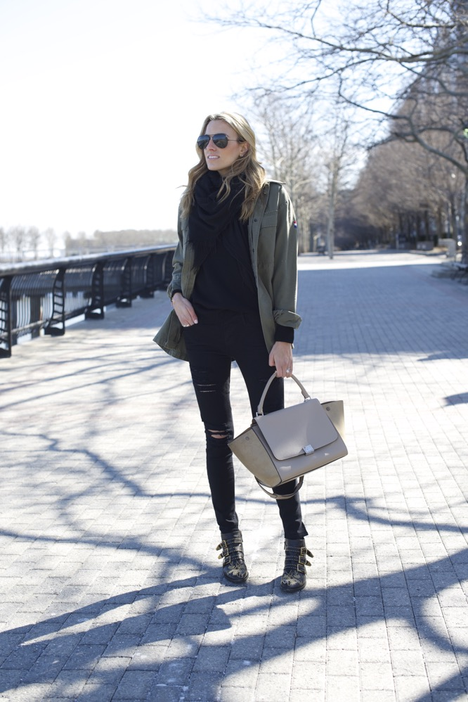 Celine Trapeze, Chloe Boots, Army Jacket 5