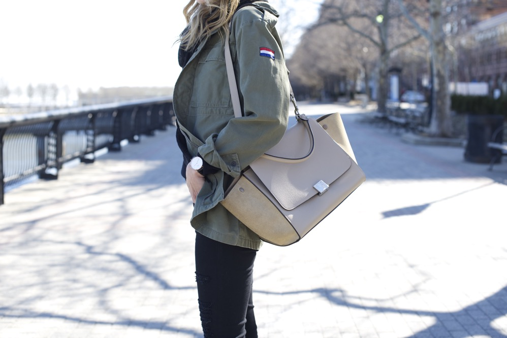 Celine Trapeze, Chloe Boots, Army Jacket 10