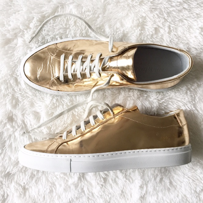 Common Projects Sneakers in Gold