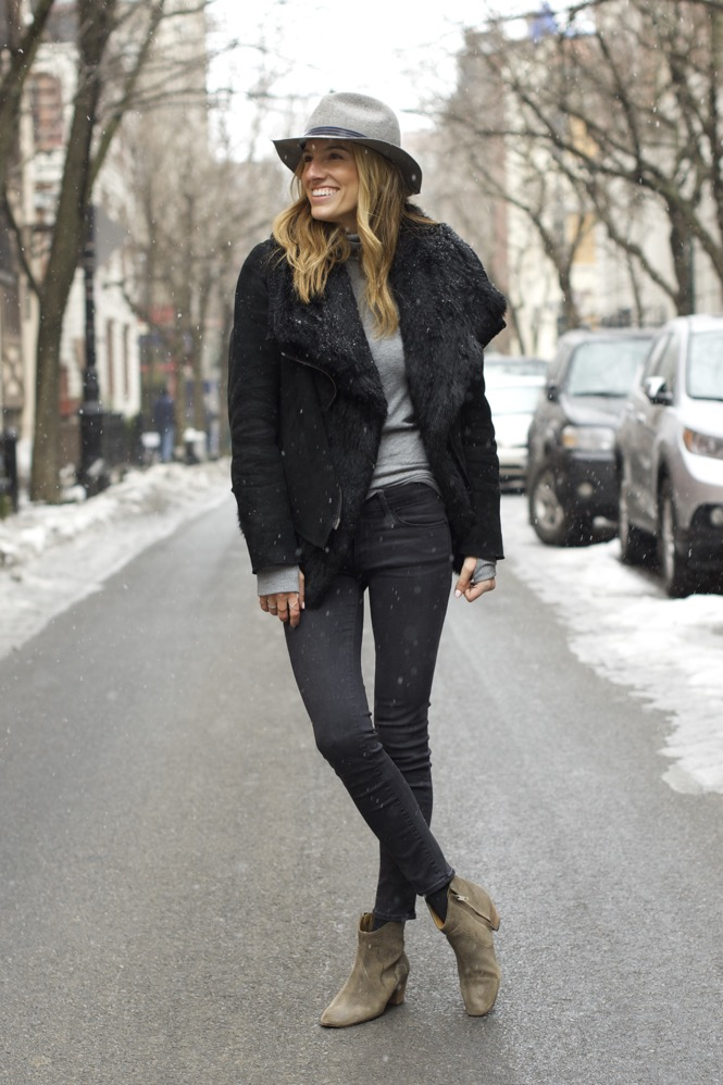 Winter Chic Style- Rag & bone hat, Isabel Marant boots