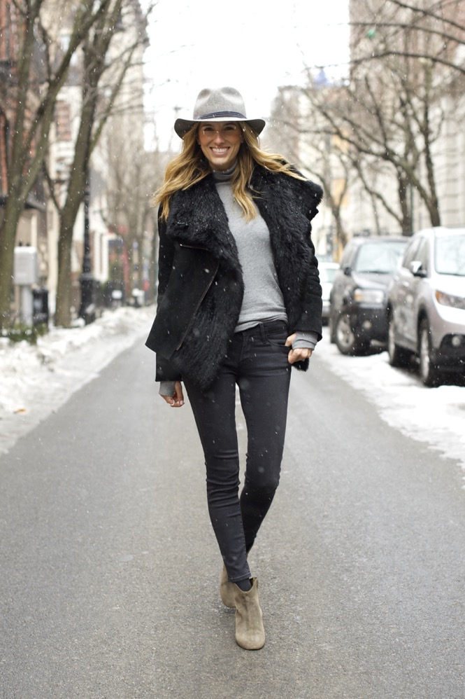 Winter Chic Style- Rag & bone hat, Isabel Marant boots 1