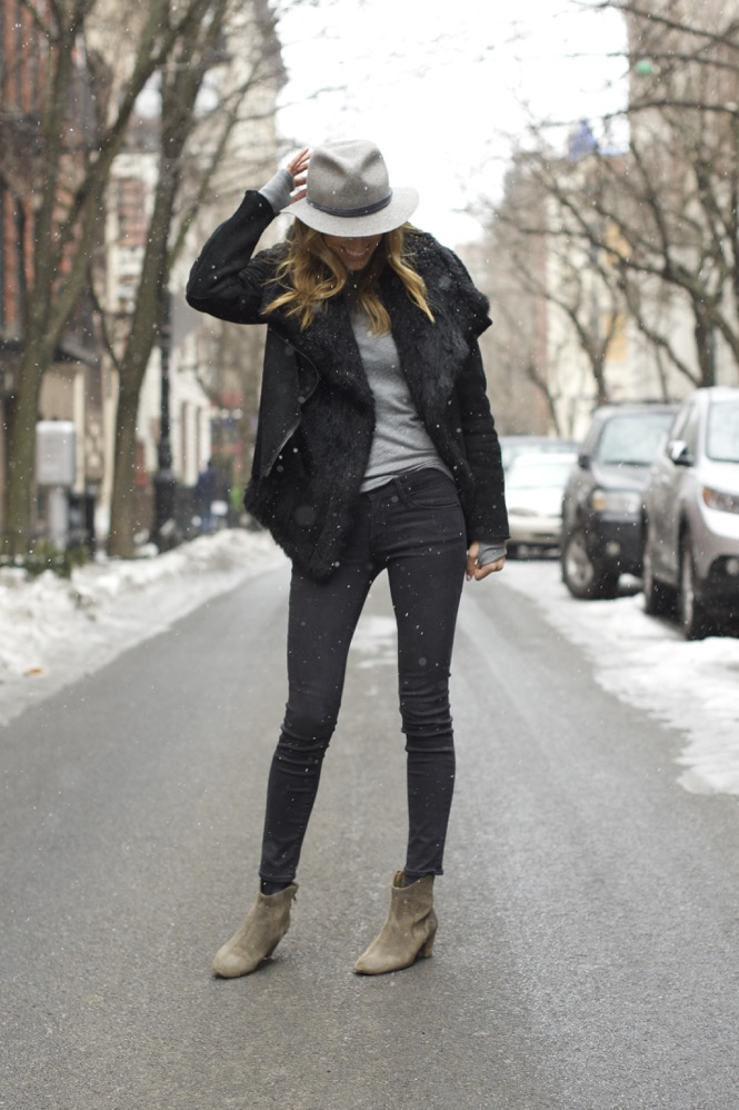 Winter Chic Style- Rag & bone hat, Isabel Marant boots 2