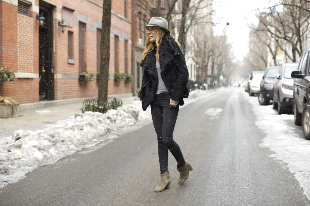 Winter Chic Style- Rag & bone hat, Isabel Marant boots 3