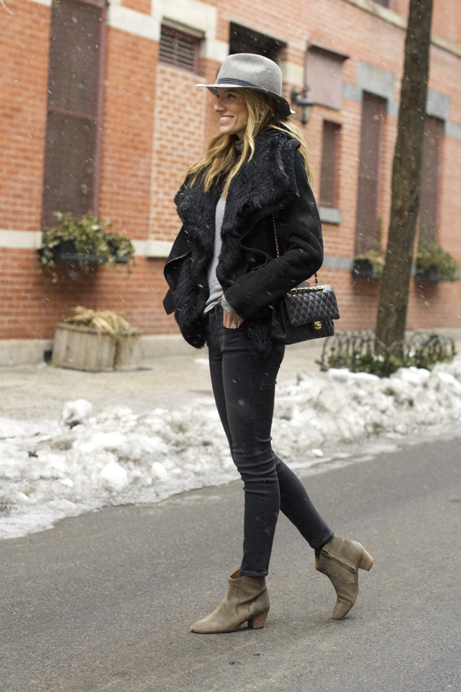 Winter Chic Style- Rag & bone hat, Isabel Marant boots 7